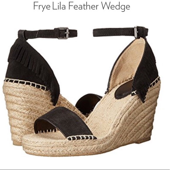 8ab6287e629 Frye Shoes - FRYE Lila Feather Wedge